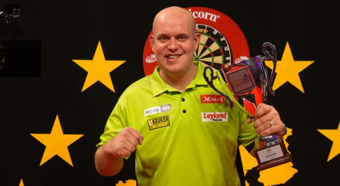 Van Gerwen Opens Against Whitlock at European Championship Darts