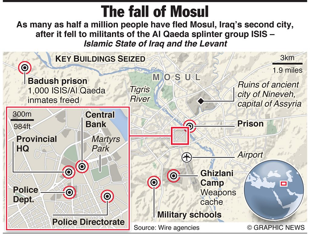 Fall of Iraq's Mosul city
