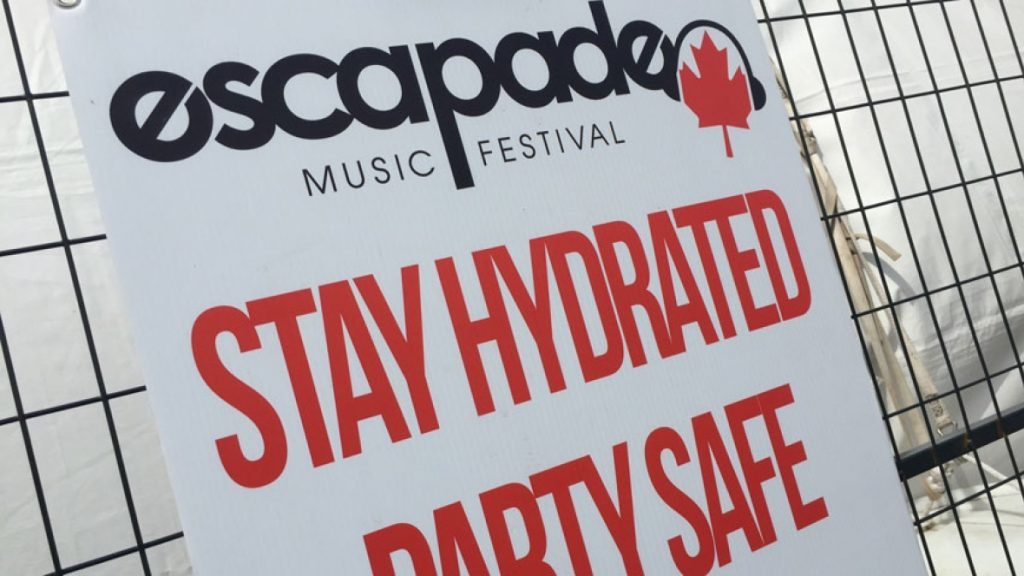 stay hydrated at music fest