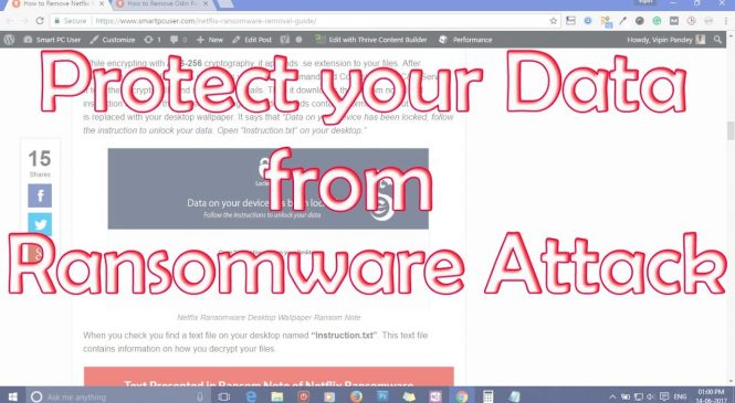 Tips How To Protect Your Data From Ransomware Attack