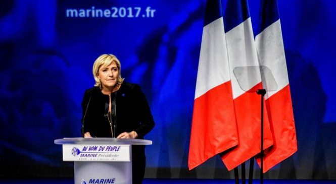 Is French Presidential Candidate Marine Le Pen Following Theresa May's Footstep