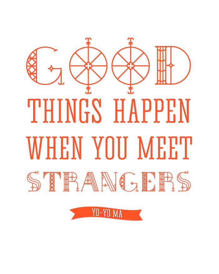 strangers quotation