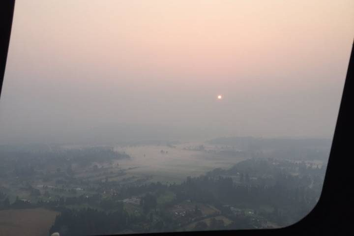 smoky haze