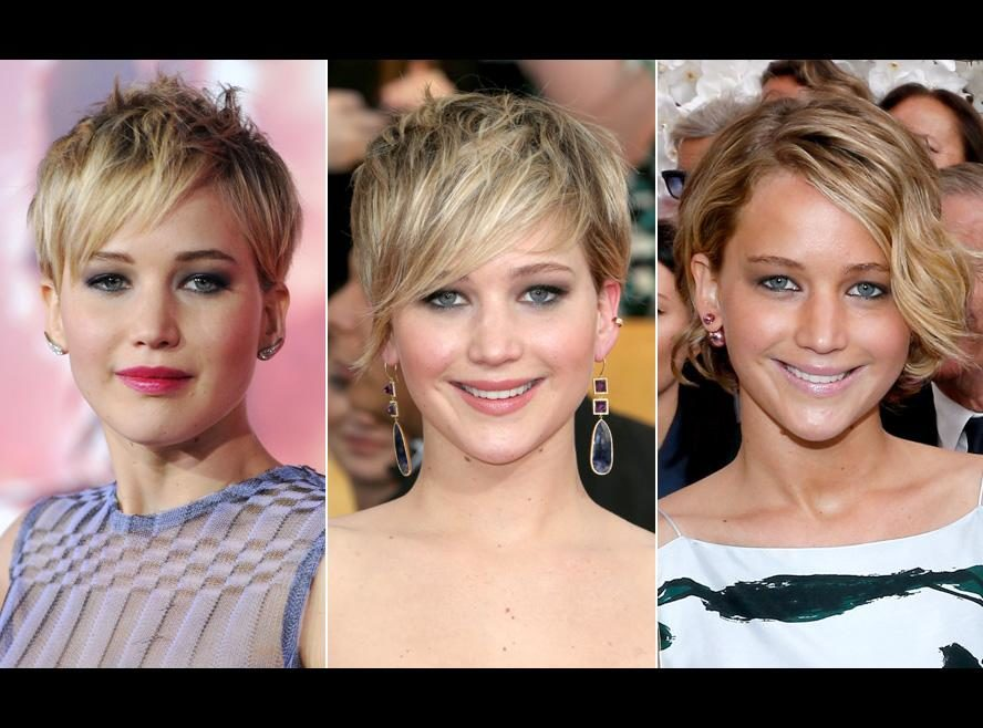 Grown-out pixie cuts