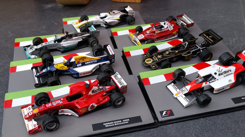 Collecting F1 Model Cars