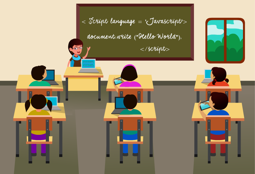 Modern Classroom Clipart ~ Simplifying our education with technologies funender