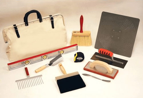 The tools required for plaster work-novice plasterers