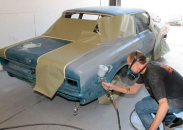 Guide to car painting – spray painting, cracked clearcoat, kolor