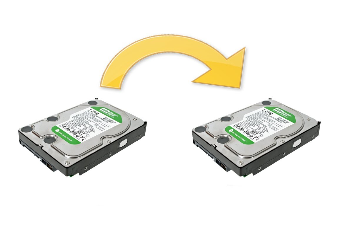 how to backup one external harddrive to another
