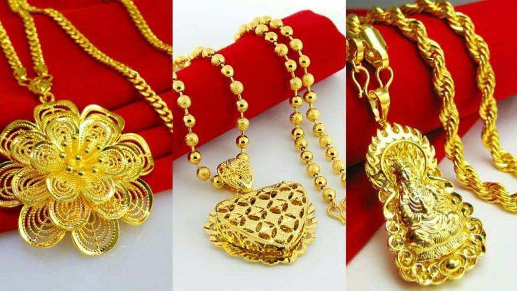 latest pendant designs in gold-earring design