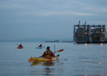 Kayaking, kayak games, more in Huron River, San Francisco Bay, coast waters