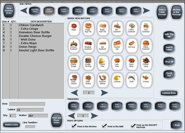 Menu options for restaurants and bars 5 Benefits of Getting A POS System