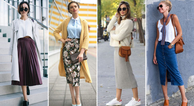 How to Wear This Year's Midi Skirts Trend