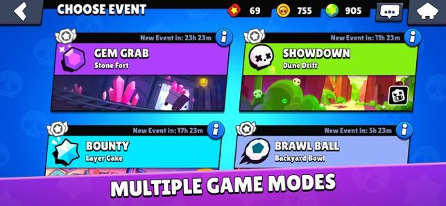 Multiplayer modes Use Brawl Stars MOD to become the best player