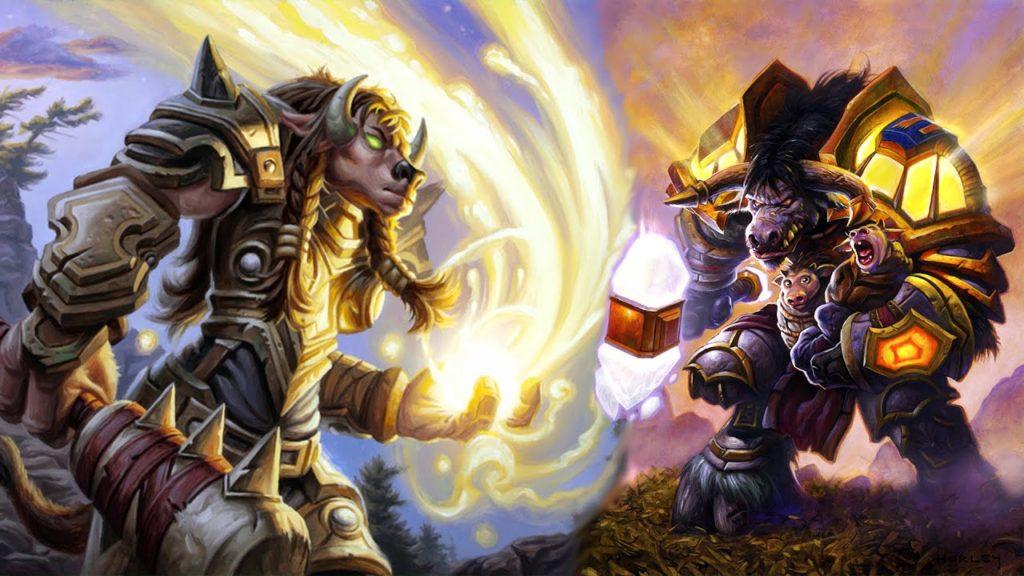 Tauren Paladins and Dwarf Shamans in World of Warcraft
