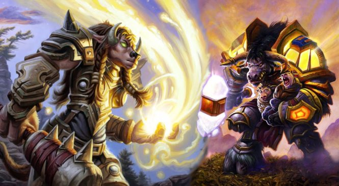 Tauren Paladins and Dwarf Shamans in World of Warcraft