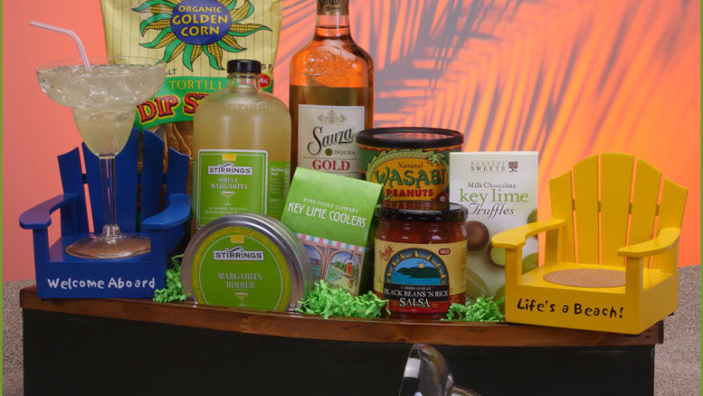 Think beyond alcohol gift baskets for golfers on wedding anniversary