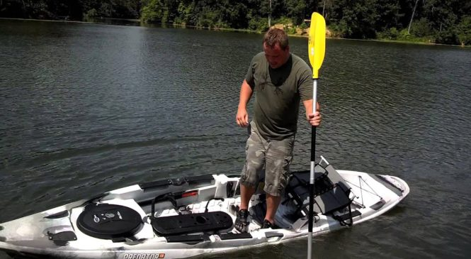 Using inflatable life jackets for best stand up fishing kayak