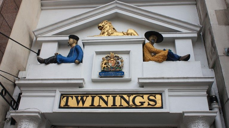 Visit Twinings Café on the Strand in london