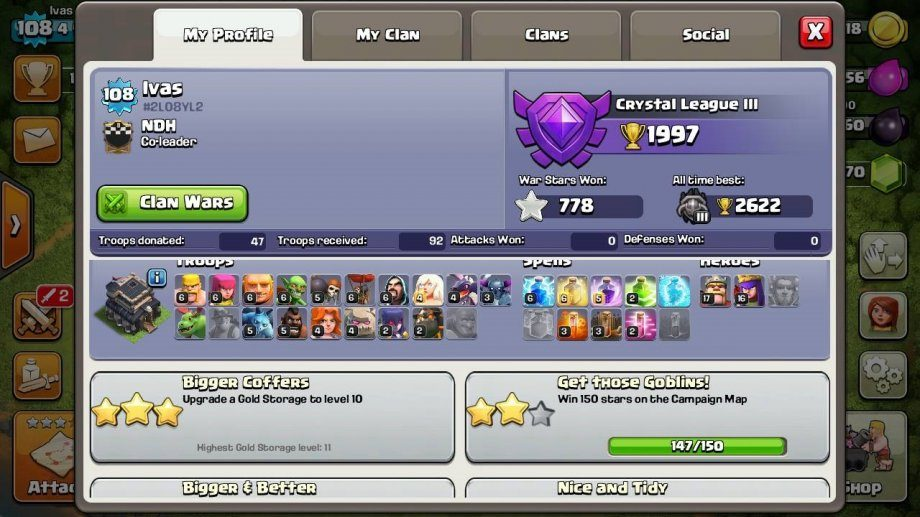 Clash of Clans accounts