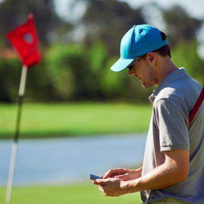 Golf equipment GPS tracker for mobile phones