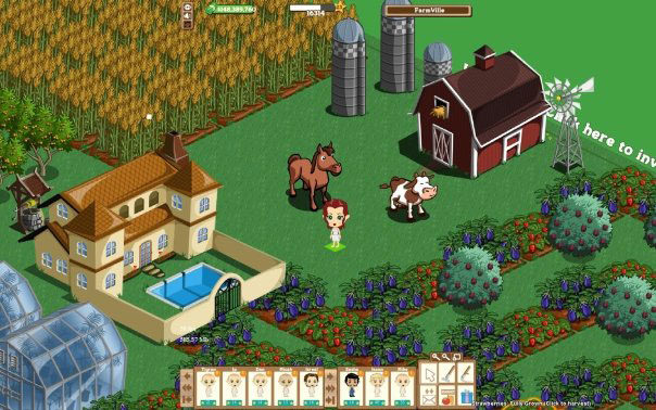Comparing Farm Town to Farmville on Facebook