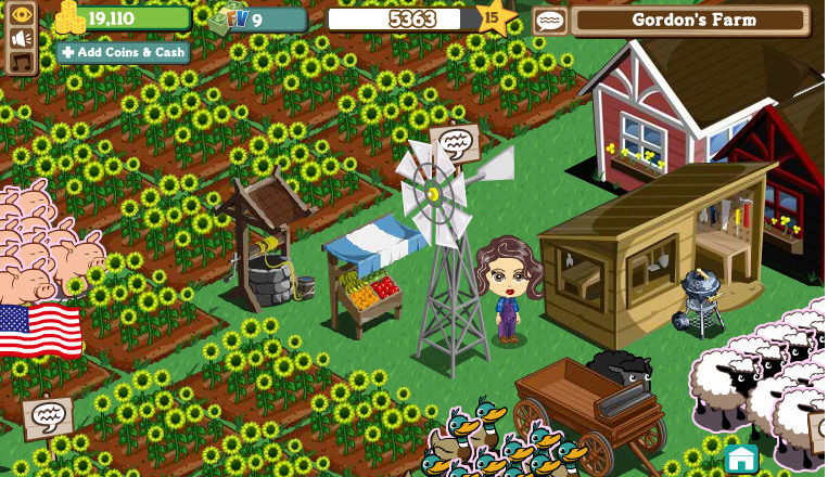 Facebook games: Farm Town and Farmville