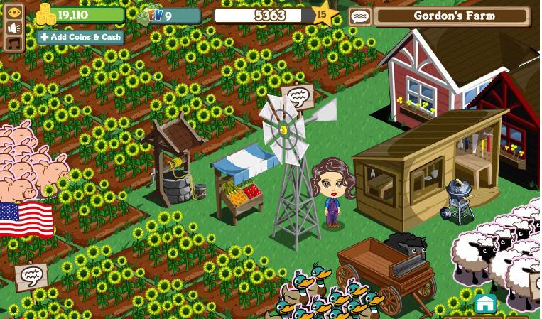 Facebook games: Farm Town and Farmville