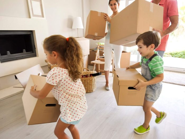 kids packing Parenting Tips On How To Make Your House Move Fun For Kids
