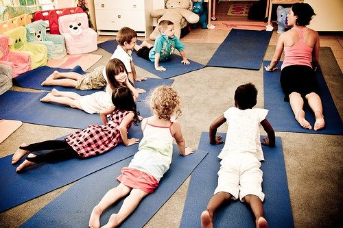 Yoga for children creates balanced and happy kid