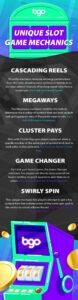 Unique Slot Game Mechanics Infographic