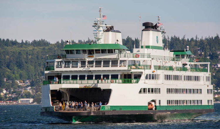 Why should you travel a country in ferry